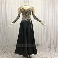 2019 of black ballroom costumes standard ballroom dancing dresses waltz flamenco dress costume dance costumes dance wear