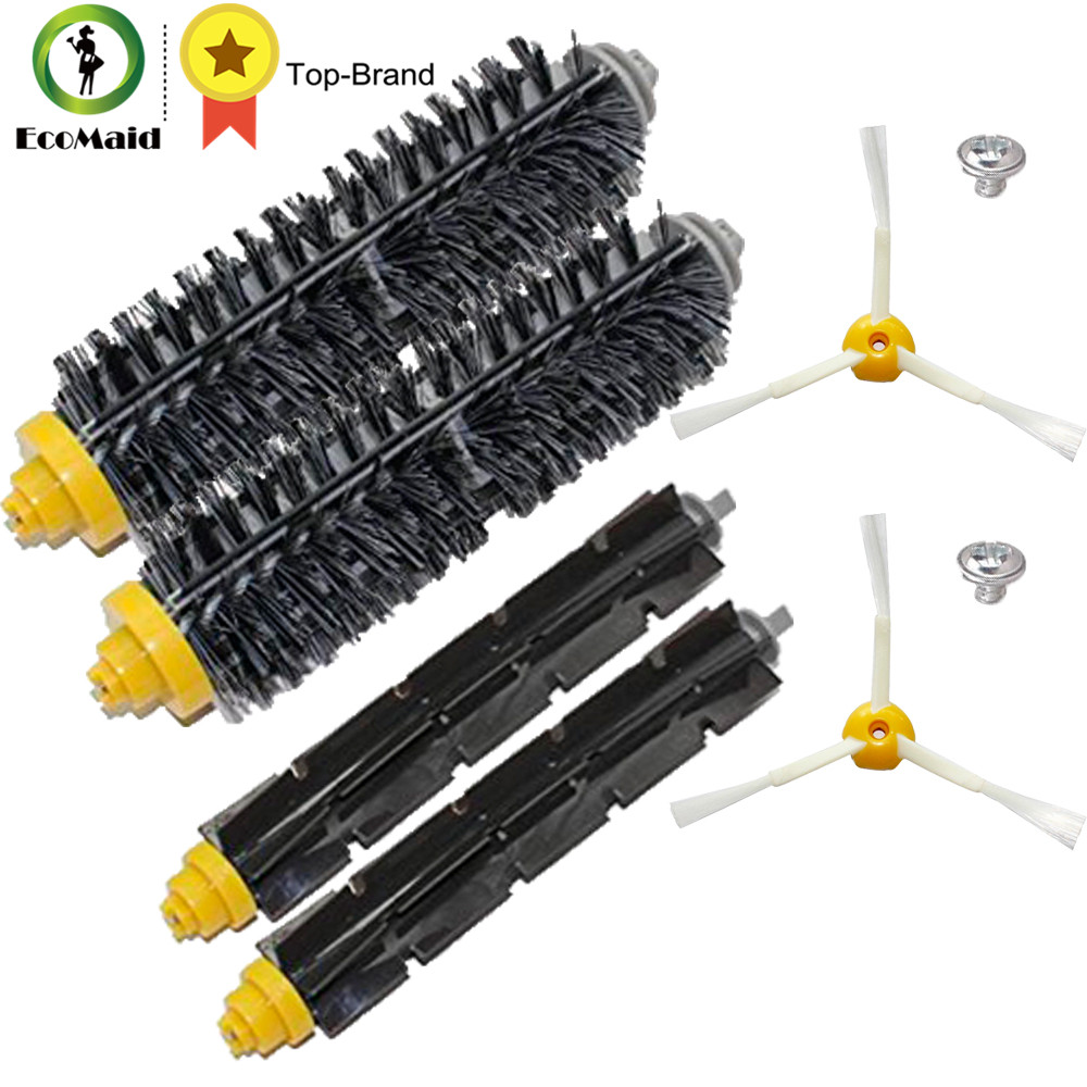 Brush Kit for iRobot Roomba 600 and 700 Series 760 770 780 3-Armed Side Brushes Flexible Beater Brush Bristle Brush Clean Tool hepa filters bristle brush flexible beater brush 3 armed side brush pack set for irobot roomba 700 series 760 770 780 790