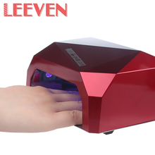 Top Quality LED UV Lamp 36W Red,Black Color Nail Dryer Diamond Shaped Curing Bulb For UV Gel Nail Nail Art Tools Wholesale Price