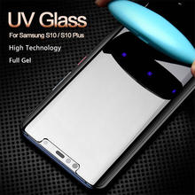 UV Hot Bending Glass Screen Protector For Samsung Galaxy S8 S9 Note8 Note9 Uv Liquid Full