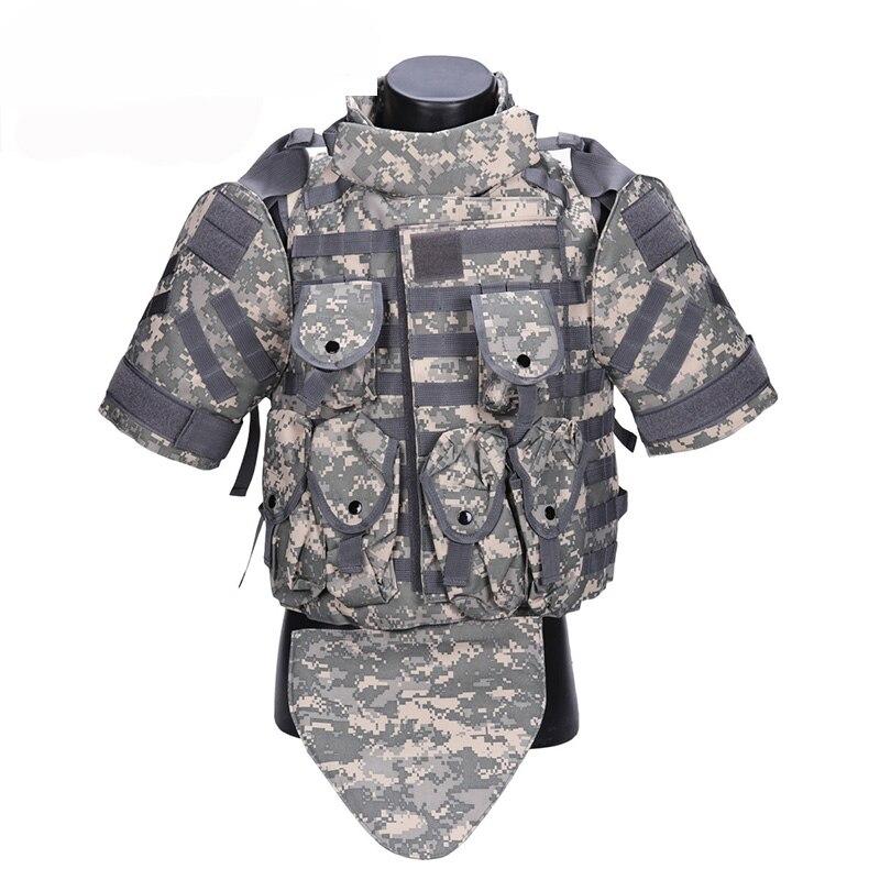 OTV Gilet Tactique Camouflage Combat Body Armor avec Poche/Pad ACU USMC Airsoft Militaire Molle Assault Plate Carrier CS vêtements