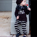 Autumn & Spring New Cotton Baby Clothes Set Long Sleeve T-Shirt Top+Striped Pants 2 Pcs Bebe Clothing Suit Casual Kids Clothes