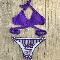 Push Up Mini Bikinis Retro Striped Bathing Suits Women Bikinis Padded Cup Low Waist Micro Bikinis