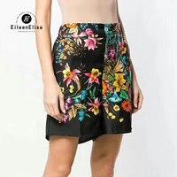 Модные шорты для женщин летние повседневные шорты с цветочным принтом женские черные шорты