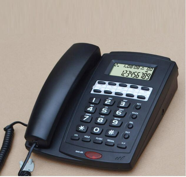 DTMF/FSK English Version Caller ID Landline Telephone With Handfree Date Redial Phone Telefone For Home Office Black White