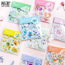 45 Pcs/Pack Mohamm Kawaii Japanese Decoracion Journal Cute Diary Flower Stickers Scrap booking Flakes Stationery School Supplies(China)