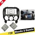 LONGSHI 2 Din Stereo Panel für Mazda 2 Demio 2007 + Radio Fascia Umrüstung Dash Montage Installation DVD Trim Kit gesicht Rahmen 2di