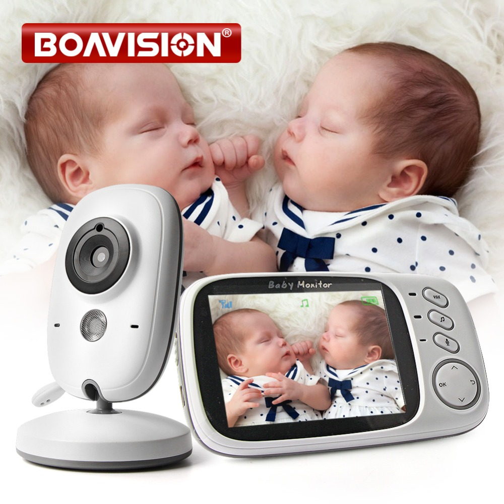 US $55 54 19% OFF|VB603 Video Baby Monitor 2 4G Wireless With 3 2 Inches  LCD 2 Way Audio Talk Night Vision Surveillance Security Camera  Babysitter-in