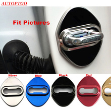 Set of 4Pcs Stainless Steel Car Anti Rust Door Lock Catch Protective Cover Cap For Most Mazda 2 3 5 6 CX-5 DoorLock With Logo