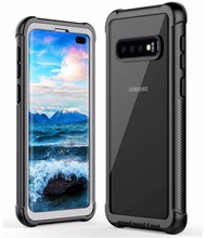For Galaxy S10 Plus case Rugged Heavy Duty Bumper Armor Cover With Built-in Screen Protector Shock-Absorption Case For S10 buff ultimate shock absorption glossy screen protector for iphone 5 transparent
