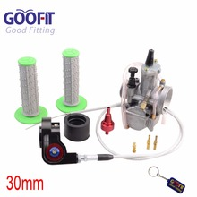 GOOFIT 30mm Visible Carburetor Twister Cable Handles PWK Tuning Power Jet Acceleration Pump Case 125cc - 150cc ATV Group-146