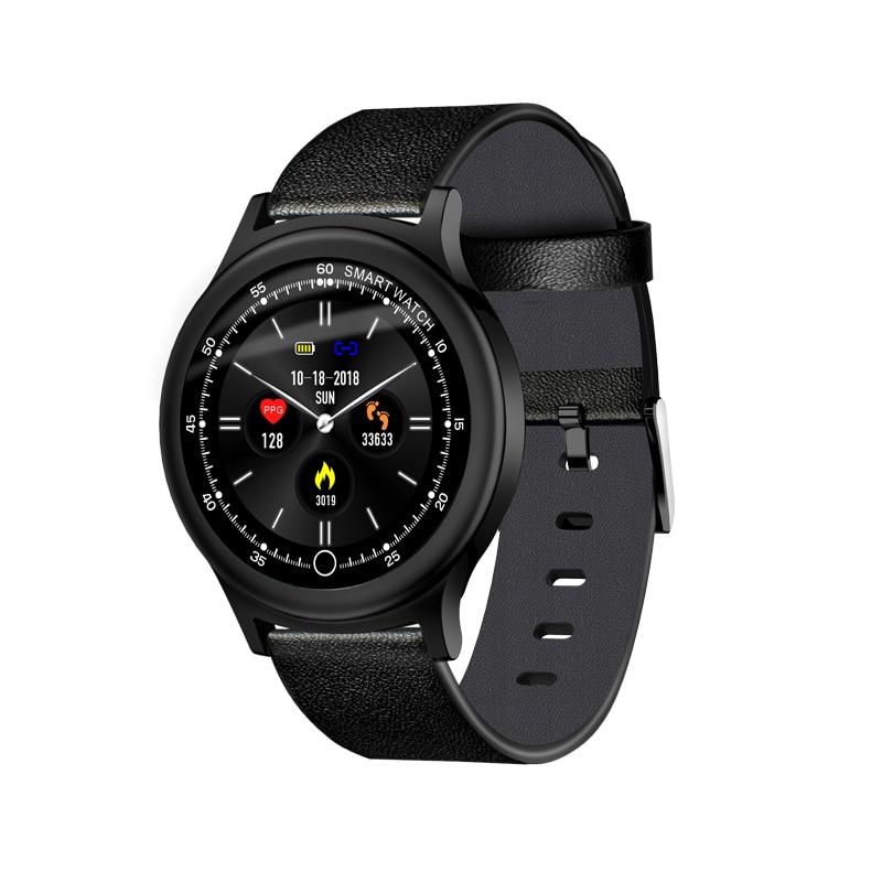 Bekomme Eins Gratis Begeistert Q28 Smart Uhr Männer Metall Strap Ersatz Ip68 Wasserdicht Herz Rate Blutdruck Monitor Sns Benachrichtigungen Smartwatch Kaufe Eins Intelligente Elektronik