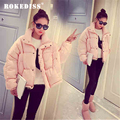 2017 Winter Jackets Women Warm Wadded Cotton Jacket Short Parkas Women Basic Coats Padded Jacket Plus Size TG062