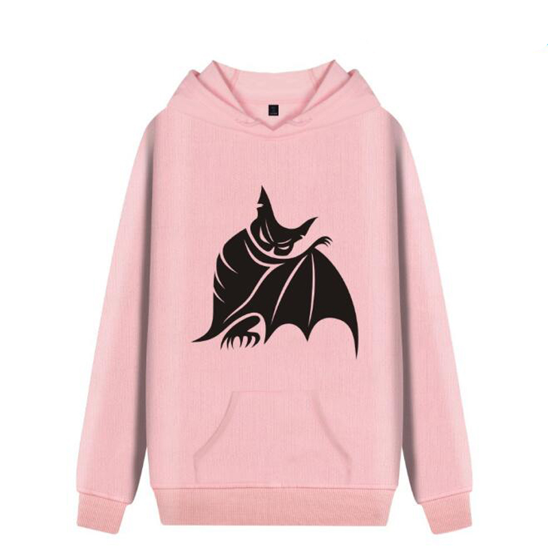 Halloween Pink Hoodie With A Hood Ladies Long Sleeve Casual Hooded Pullover Harajuku Sweatshirt Female Streetwear Kawaii Clothes