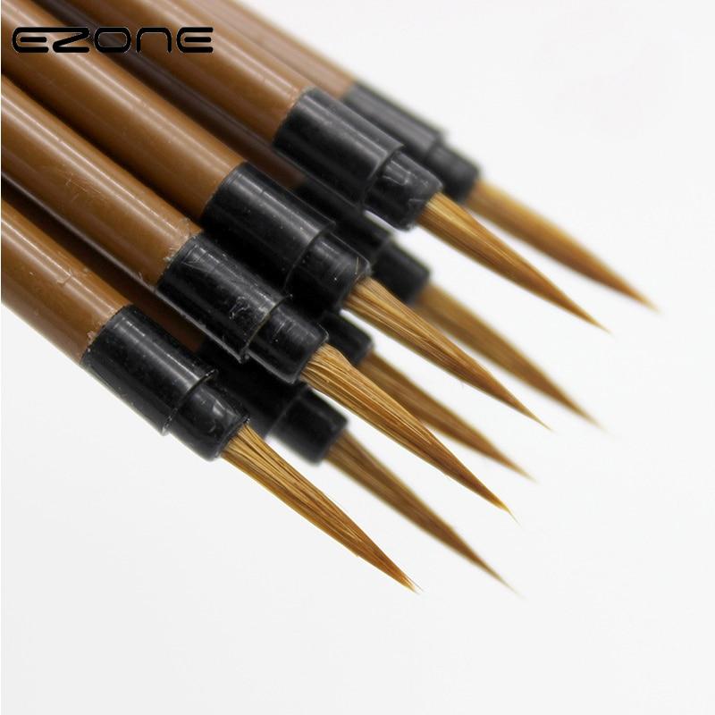 EZONE Wolf Hair Brush Hook Line Pen Calligraphy Pens Steel Rod Penholder Artist Drawing Painting Watercolor Painting Supplies
