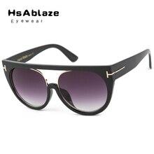 Hsablaze gafas new calle complemento cat eye sunglasses mujeres diseñador de la marca de lujo de la vendimia gafas de sol gafas de sol gafas feminino