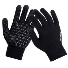Women/Men Knitted Gloves Thicken Winter Warm Gloves Touch Sc