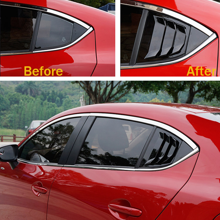 Black Rear C Pillar Door Window Side Louver Vent Sill Cover Trim Accessories For Mazda 3 Axela 2017 2016 2018 In Body Kits From Automobiles