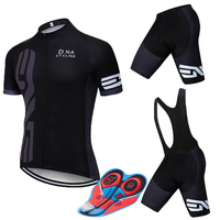 2019 Pro Men UCI World Tour Black Cycling Team Jersey 9D Gel Pad Ropa Ciclismo Mens Summer Bicycle Maillot Culotte Clothes Set