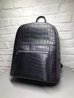 Кожаный рюкзак натуральная крокодил живот 100% сумка матовая вода крашение крокодиловой кожи высокого качества модный рюкзак Сумка Черный