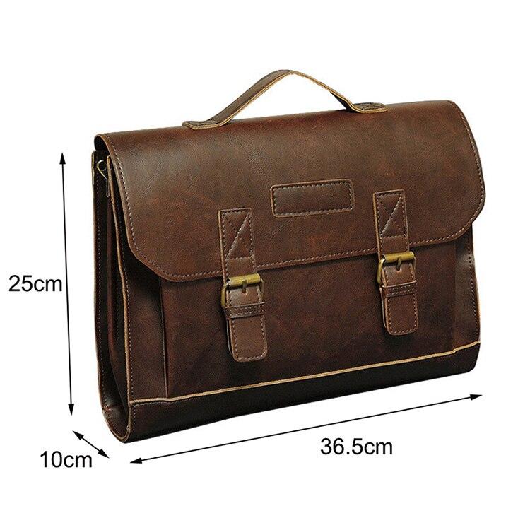HTB1smGekhTI8KJjSspiq6zM4FXaG Crazy Horse PU Leather Men Briefcase Famous Brand Men's Messenger Bag Male Laptop Bag Business Fashion Shoulder Bags Travel Bag
