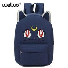 Harajuku Стиль рюкзак Сейлор Мун рюкзак милый кот Сумка Школьные сумки для подростка Обувь для девочек Книга сумка рюкзак A175B