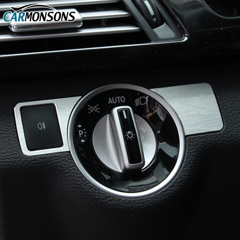 Butang Pelarasan Lampu Carmons Penutup Trim untuk Mercedes Benz A B C - Aksesori dalaman kereta - Foto 2
