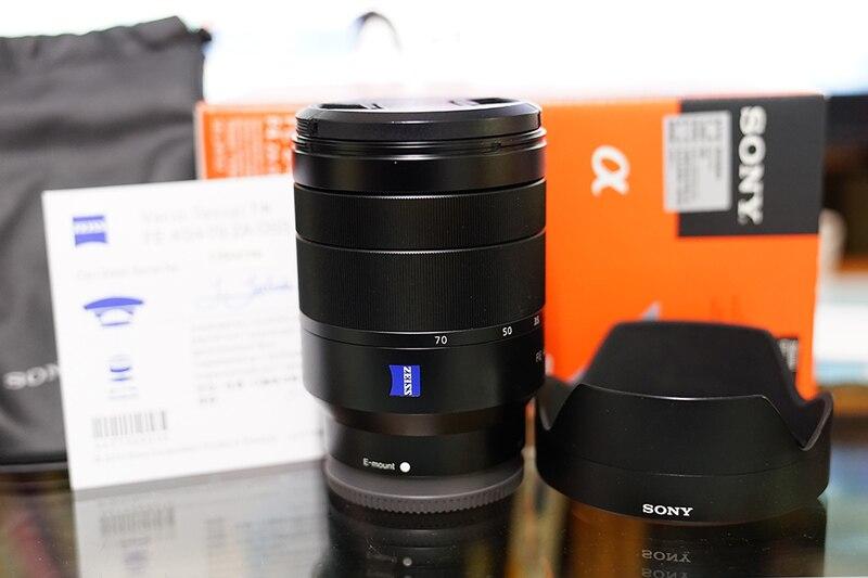 Новый Sony Vario-Tessar t * fe 24-70 мм f/4 ZA OSS объектив sel2470z для a7 II A7R II a7s II
