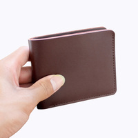 Handwork Vintage Simple Leather Mini Wallet Men Slim Small Real Leather Cartera Hombre Men Wallet Top