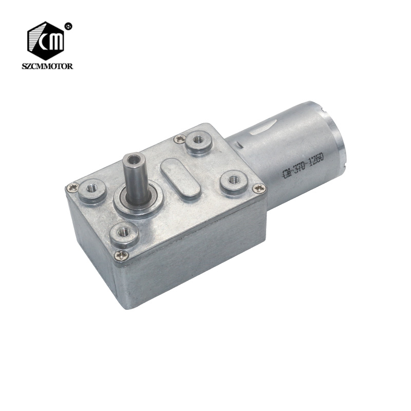 6V 12V 24V 2RPM To 150RPM DC Worm Drive Reduction Gear Motor Low Speed For DIY Gearmotors JGY370 Worm Gearmotor 12V