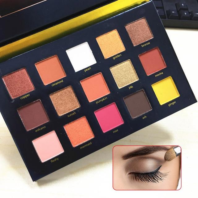 Fashion 15 Colors Natural Matte Eyeshadow Palette Makeup