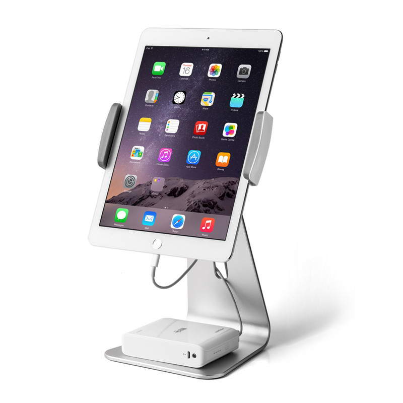 AL Metal Tablet PC Stand Holder for iPad new 2018 Air 2 mini 4 iPad Pro 12.9 surface pro 4 3 Docking Station Cradle Anti-skid aluminum tablet pc stand holder for ipad pro ipad new 2018 air 2 mini 4 surface pro 4 3 docking station cradle anti skid silver