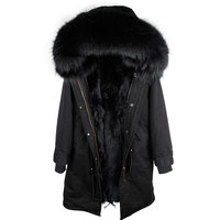 2018 новый натуральный мех Парка мужская зимняя куртка из натурального меха енота с капюшоном пальто природный енот собака подкладка куртка