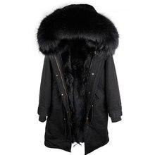 2018 новый натуральный мех Парка мужская зимняя куртка из натурального меха енота с капюшоном пальто природный енот собака подкладка куртка человек натуральный мех пальто