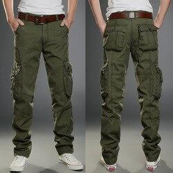 2018 Mens Military Cargo Hosen Multi-Taschen Baggy Männer Hosen Casual Hosen Overalls Armee Hosen Cargo Hosen Hohe Qualität