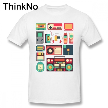 For Male RETRO TECHNOLOGY T Shirt Plus Size Tee Radio t shirt Plus size Round Neck Top design