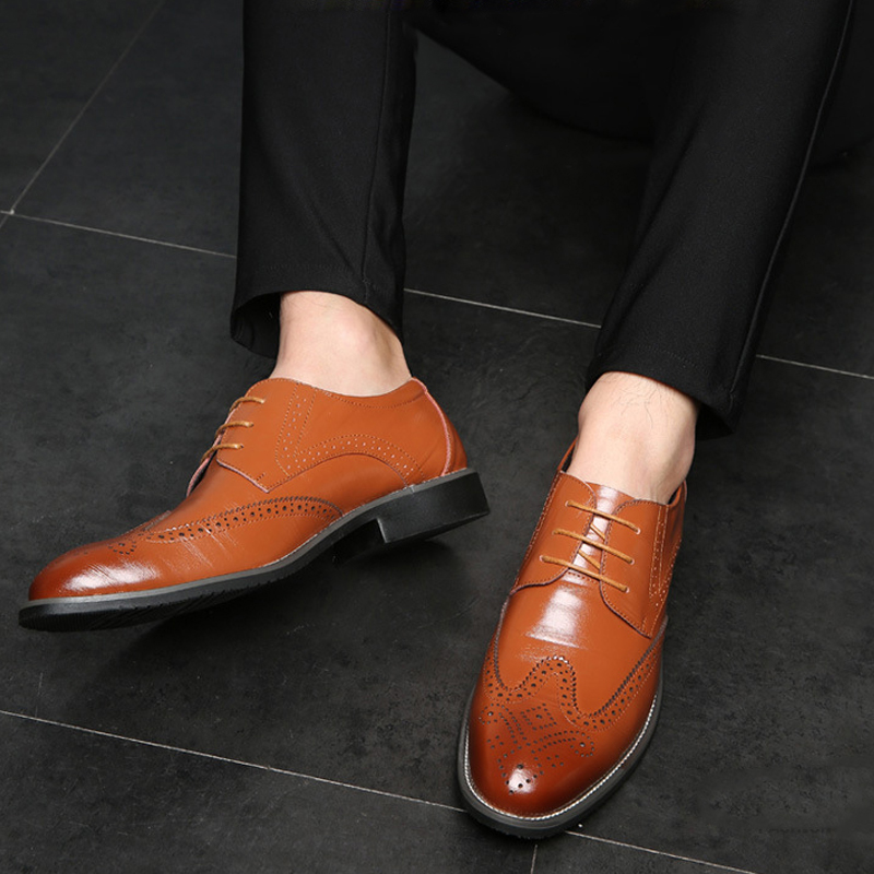 Fashion man Breathable Pointed Toe Genuine Leather Shoes Men Lace Up Oxfords Shoes For Men British Style Casual Men Shoes beffery 2018 british style patent leather flat shoes fashion thick bottom platform shoes for women lace up casual shoes a18a309