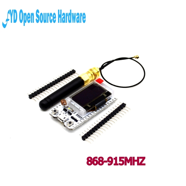 US $17 98 |1pcs 868MHz/915MHz LoRa ESP32 Oled Wifi SX1276 Module IOT with  Antenna for arduino Electronic diy kit pcb-in Integrated Circuits from