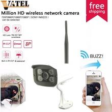 HD 720 P Wi-Fi Ip-камеры Открытый 1.0MP Водонепроницаемый Ночного Видения ВИДЕОНАБЛЮДЕНИЯ Сетевая Камера P2P Подключи И Играй Onvif Камеры Безопасности система