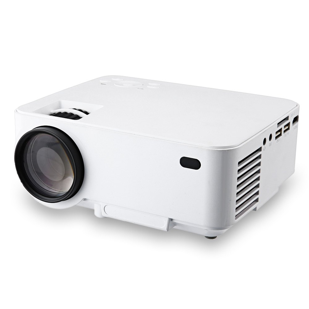 RUISHIDA M1 Ultimate Android 4.4.4 1500 Lumens Projector with LAN Port HDMI USB SD Card Slot for Home Office Education