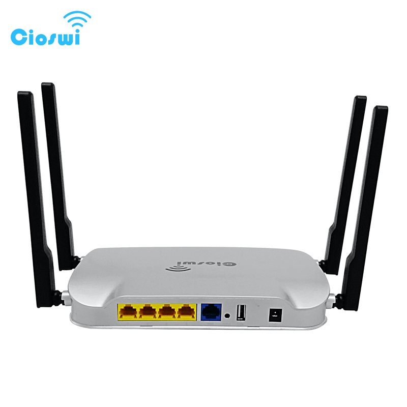 Cioswi MT7621 chipset openwrt system 5ghz wifi repeater with genuine gigabit ports 11ac dual band gigabit wifi router 1200Mbps