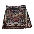 Fashion vintage Floral Embroidery skirt women Autumn winter high waist mini skirts ladies saia faldas jupe plus size skirt
