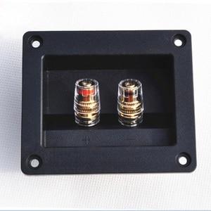 Image 2 - 2pcs Due Spilli Audio Speaker Banana Connettore di Rame di Rame Terminale di Cablaggio Degli Altoparlanti Audio Presa