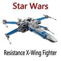 2017 Nueva LEPIN 740 Unids Resistencia Stars Wars X-wing Fighter Kits de Edificio Modelo Bloques Ladrillos Juguetes Para Niños regalo Con 75149