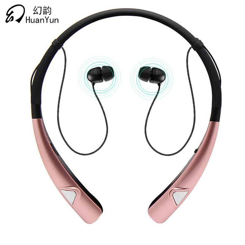 HuanYun Bluetooth Wireless Earphone Neckband Sport Stereo  Neck Strap Bass Running Bluetooth Headphone HIFI Headset With Mic hbs 760 bluetooth 4 0 headset headphone wireless stereo hifi handsfree neckband sweatproof sport earphone earbuds for call music