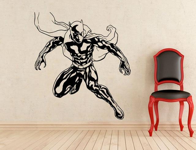 슈퍼 히어로 블랙 팬더 벽 데칼 비닐 분리형 패션 아플리케 홈 실내 벽화 보이 룸 아트 데코 CJY27