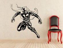 Superhero Black Panther Muurtattoo Vinyl Afneembare Mode Applique Thuis Indoor Muurschildering Jongen Kamer Art Deco CJY27