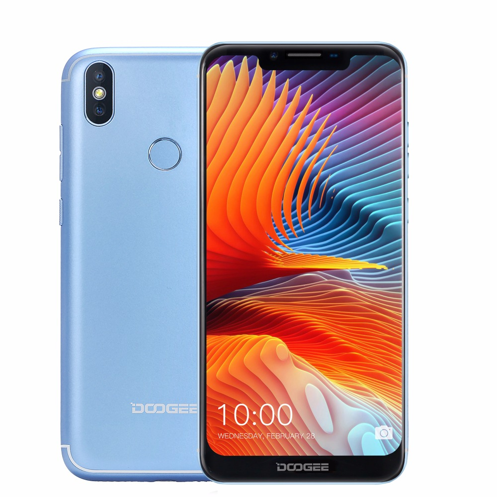 DOOGEE BL5500 Lite 6.19'' U-notch 19:9 Screen Android 8.1 Mobile Phone 2+16GB 5500mAh 13.0MP Fingerprint 4G Dual SIM Smartphone