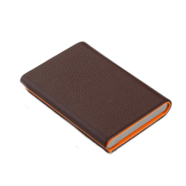 ff3543a7806e Black Clamshell business credit card holder case men women metal slim  premium Cortical card case Stainless