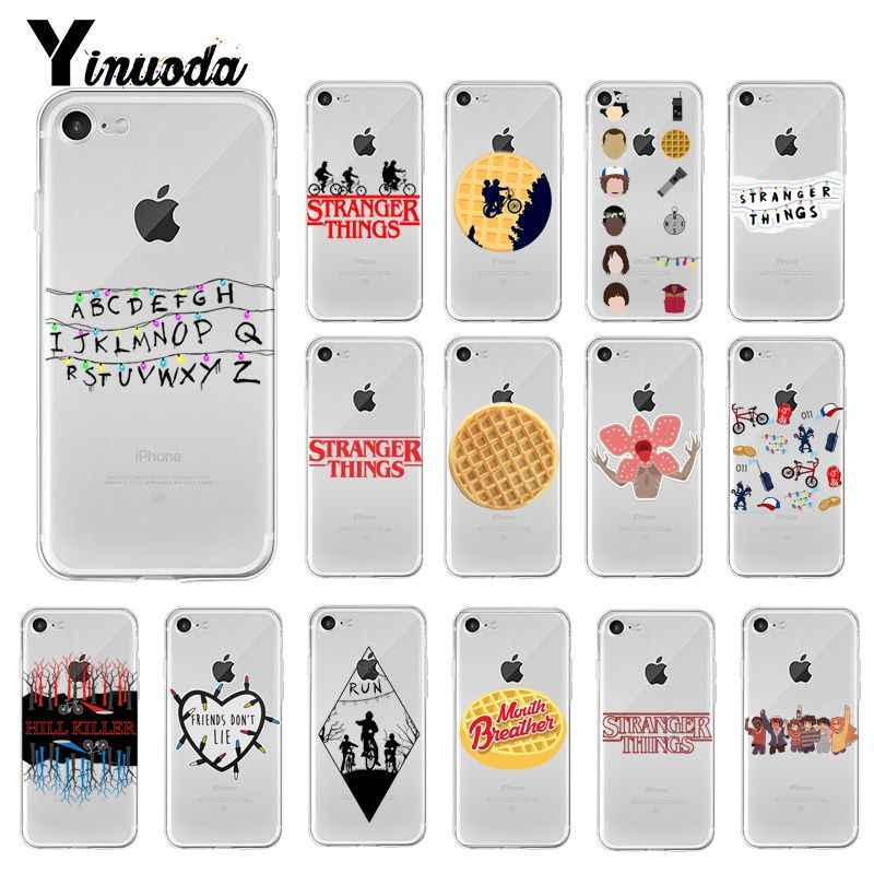 Yinuoda Stranger Things Christmas Lights Colorful Cute Phone Case for iPhone 8 7 6 6S Plus X XS MAX 5 5S SE XR 10 11 pro max